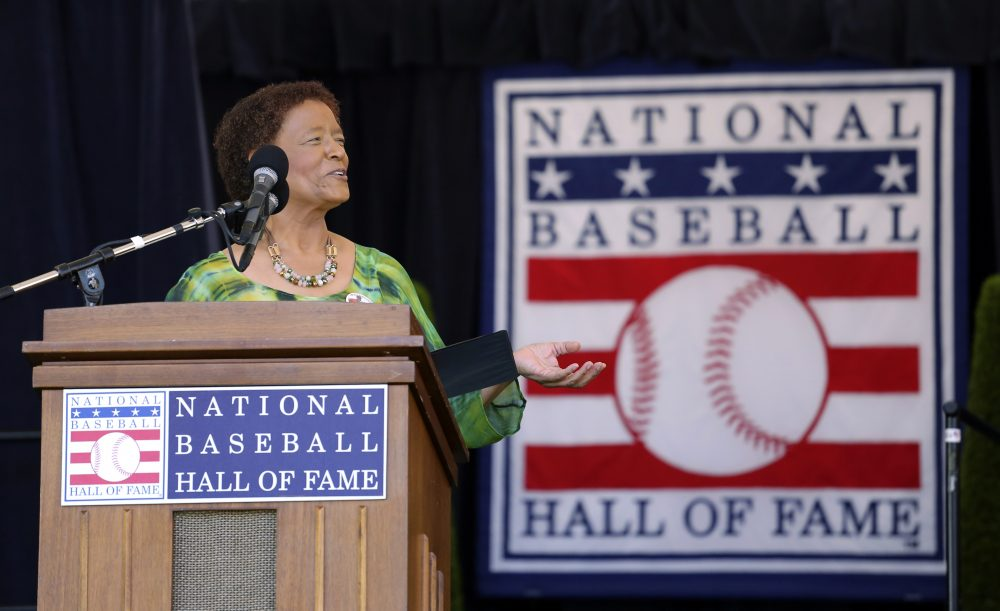 In 2017, Claire Smith became the first woman to win the J.G. Taylor Spink Award, the highest honor the Baseball Writers' Association of America bestows, for her contributions to baseball writing. (Reed Saxon/AP)