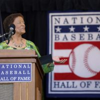 In 2017, former sportswriter Claire Smith became the first woman to win the J.G. Taylor Spink Award, the highest honor the Baseball Writers' Association of America bestows, for her contributions to baseball writing. (Reed Saxon/AP)