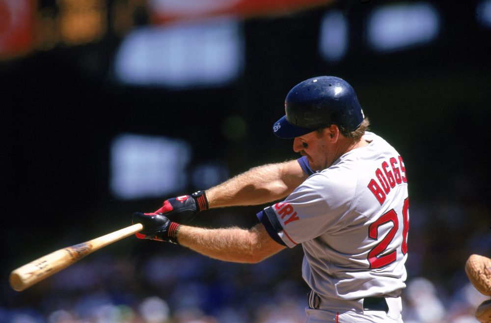 """Wade Boggs was a five-time batting champion ... and a """"survivalist."""" (Gary Newkirk/Gettyimages)"""