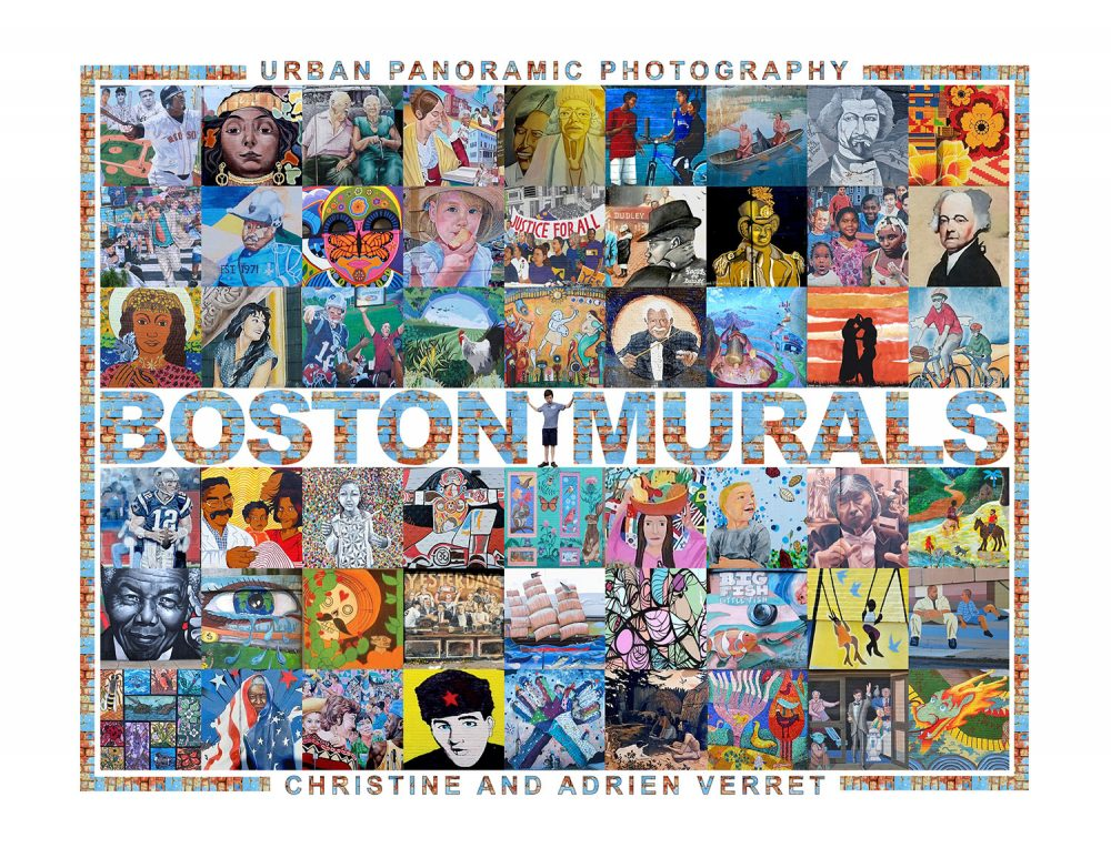 "The cover of Christine and Adrien Verret's book ""Boston Murals."" (Courtesy of the authors)"