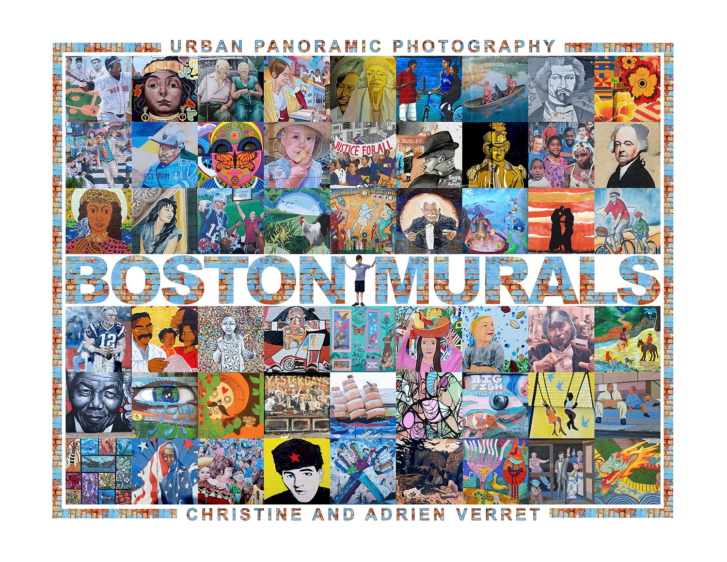 """The cover of Christine and Adrien Verret's book """"Boston Murals."""" (Courtesy of the authors)"""