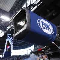 A Fox Sports camera is seen during an NFL football game between the Detroit Lions and the Philadelphia Eagles at Ford Field in Detroit, Thursday, Nov. 26, 2015. (Rick Osentoski/AP)