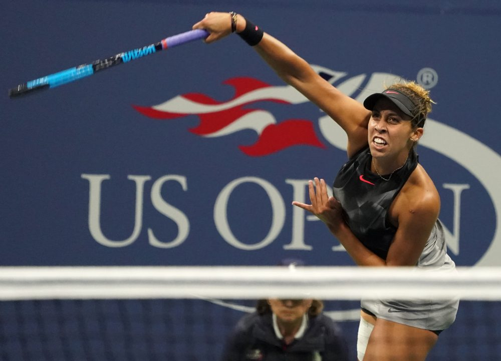 """""""I can't tell you how many times I have sat in this chair and had to hear, you know, how horrible tennis is in America,"""" Madison Keys said. (Don Emmert/AFP/Getty Images)"""