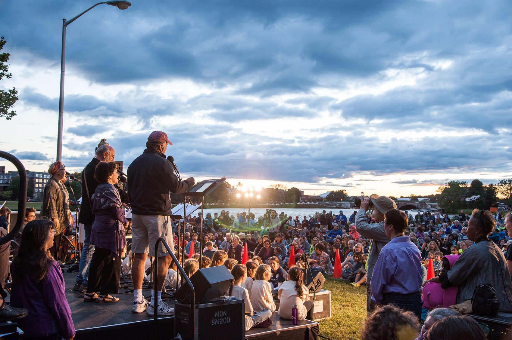 The crowd at RiverSing in 2013. (Courtesy Revels)