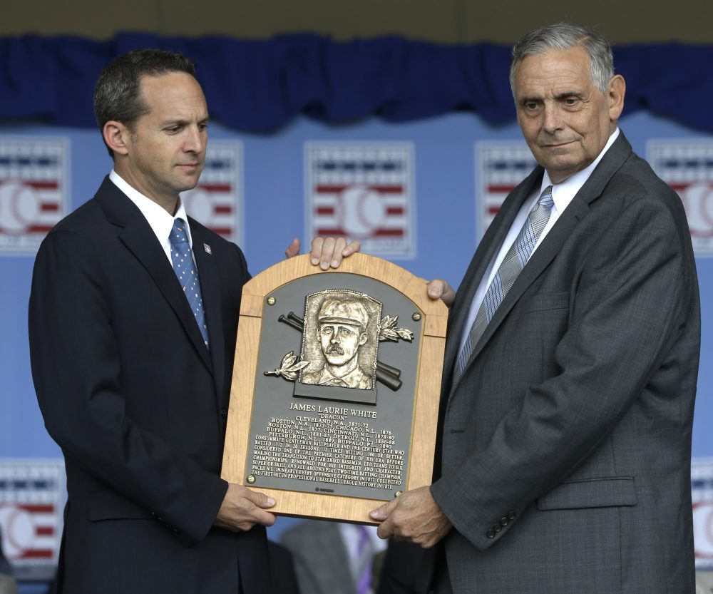 In 2013, over 120 years after he retired from baseball, Deacon White was inducted into the Hall of Fame. (Mike Groll/AP)