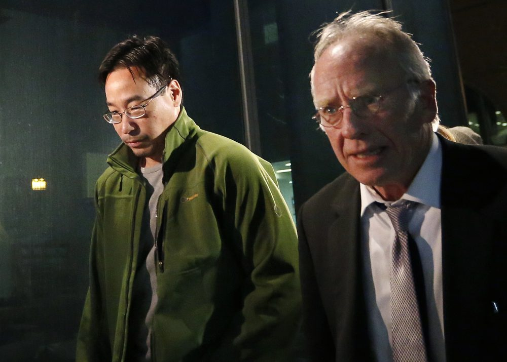Glenn Chin, left, who was the supervisory pharmacist at the now-closed New England Compounding Center in Framingham is heading to trial. (Elise Amendola/AP)