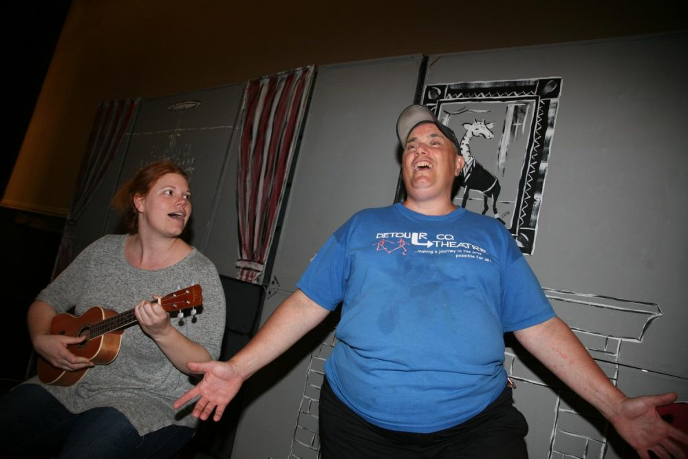 Twice a year, Detour Theatre Company puts on professional musicals - with a cast made up of people with disabilities or other issues that would leave them locked out of traditional theater. (Stina Sieg/KJZZ)