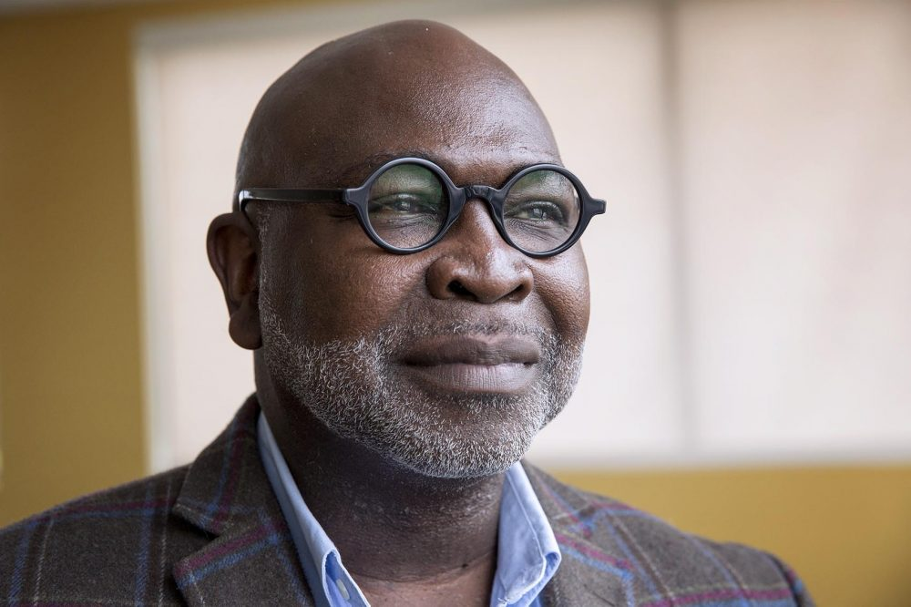 Dr. Willie Parker, at WBUR. (Robin Lubbock/WBUR)