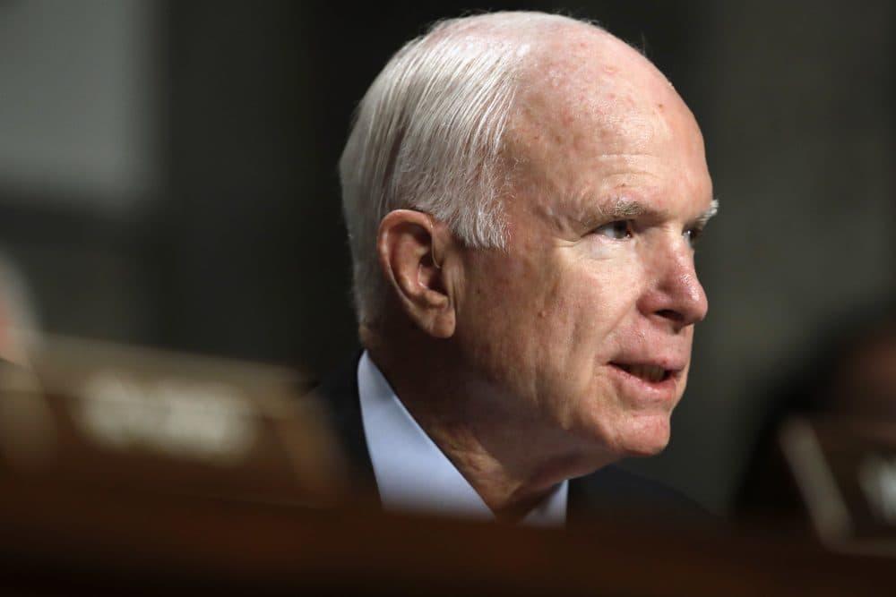 Senate Armed Services chairman Sen. John McCain, R-Ariz., speaks during a hearing on Sept. 19, 2017, on Capitol Hill in Washington. (Jacquelyn Martin/AP)