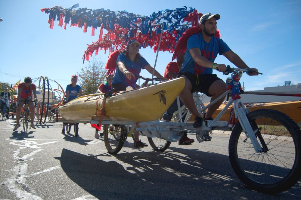 """Rowdy River Rollers"" by students from the University of Massachusetts Lowell. (Greg Cook/WBUR)"
