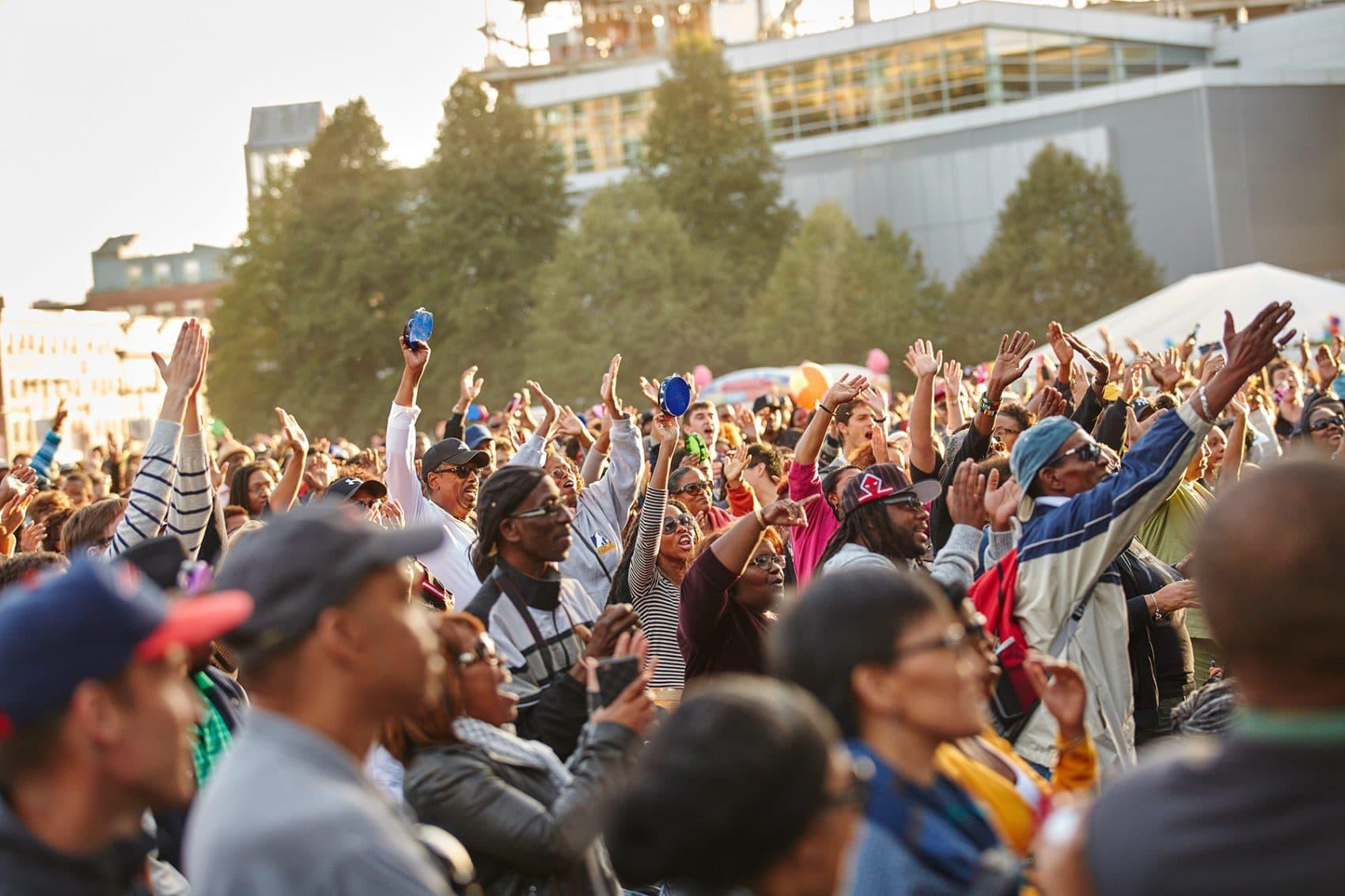 The crowd in 2016 at the Berklee Beantown Jazz Festival. (Courtesy Berklee)