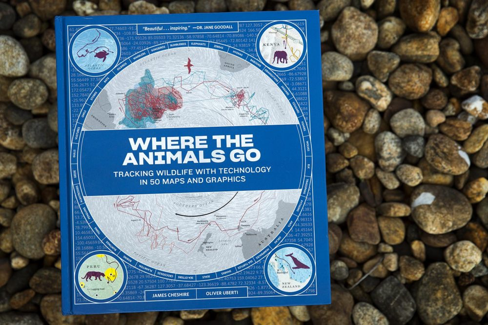 """""""Where The Animals Go,"""" by James Cheshire and Oliver Uberti. (Robin Lubbock/WBUR)"""