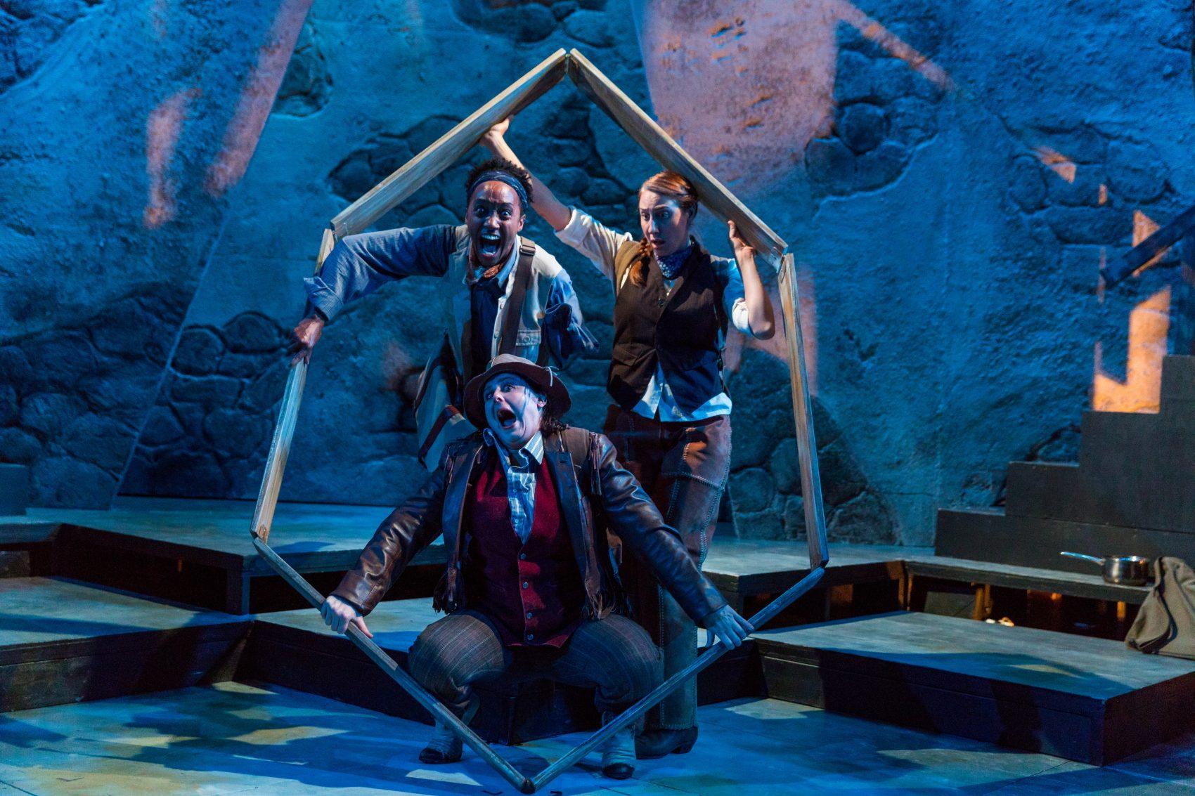 "Robin JaVonne Smith, Bridgette Hayes and Veronika Duerr in SpeakEasy's production ""Men on Boats."" (Courtesy Nile Hawver/Nile Scott Shots)"