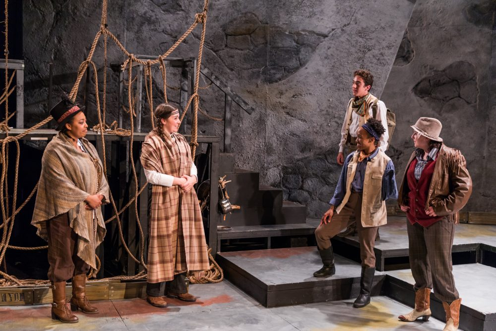 "Lyndsay Allyn Cox, Ellie van Amerongen, Cody Sloan, Robin JaVonne Smith and Bridgette Hayes in ""Men on Boats."" (Courtesy Nile Hawver/Nile Scott Shots)"