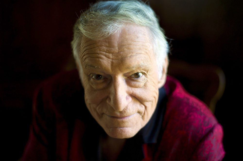 This Oct. 13, 2011 file photo shows  American magazine publisher, founder and chief creative officer of Playboy Enterprises, Hugh Hefner, at his home at the Playboy Mansion in Beverly Hills, Calif. (Kristian Dowling/AP)