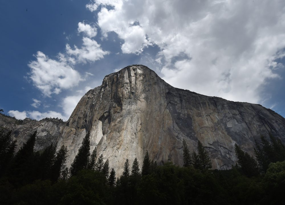 The El Capitan monolith in the Yosemite National Park in California on June 4, 2015. (Mark Ralston/AFP/Getty Images)
