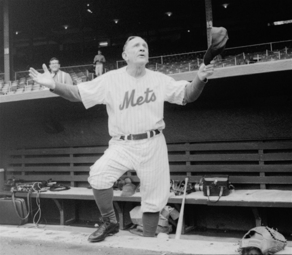 Casey Stengel managed the Brooklyn Dodgers, the Boston Braves, the New York Yankees and the New York Mets. (AP)