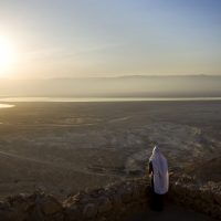 A file photo of the historic site of Masada, overlooking the Dead Sea, in Masada, Israel. (Sebastian Scheiner/AP)