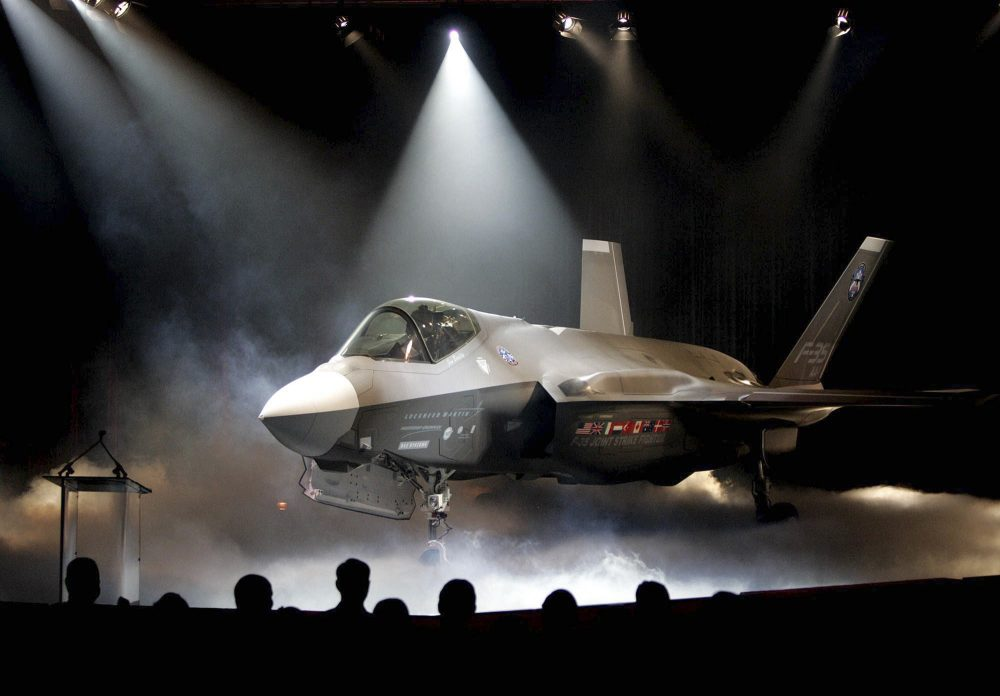 In this July 7, 2006, file photo, the Lockheed Martin F-35 Joint Strike Fighter is shown after it was unveiled in a ceremony in Fort Worth, Texas. (LM Otero/AP)