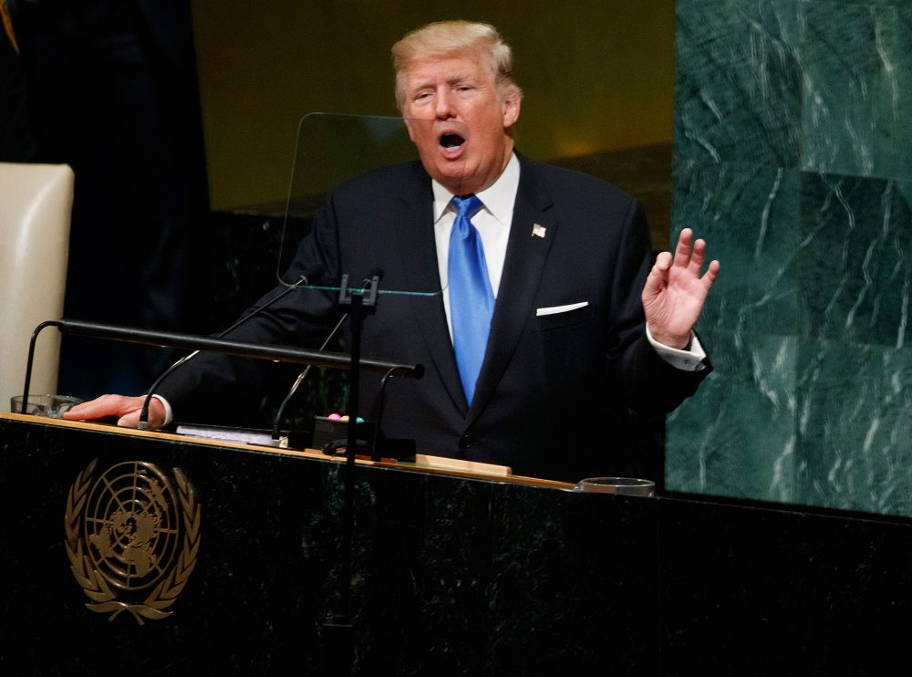 President Trump speaks to the United Nations General Assembly, Tuesday, Sept. 19, 2017, in New York. (Evan Vucci/AP)