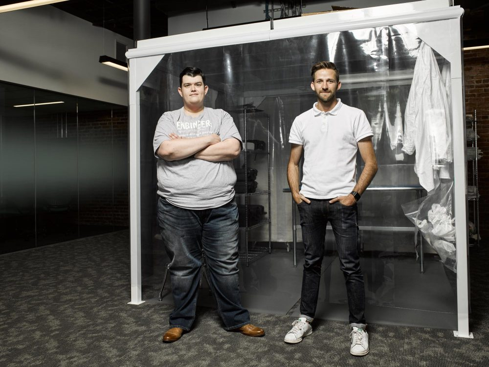 The founders of Analytical Space, Justin Oliveira, left, and Dan Nevius. (Courtesy The Engine)