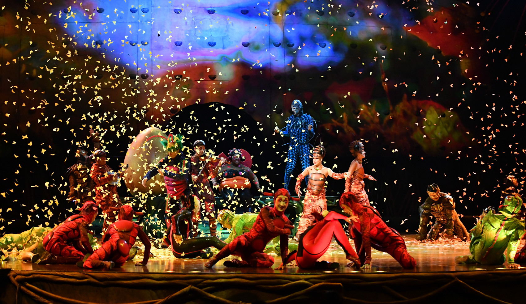 "The Cirque du Soleil troupe performs a scene from ""OVO."" (Courtesy Cirque du Soleil)"