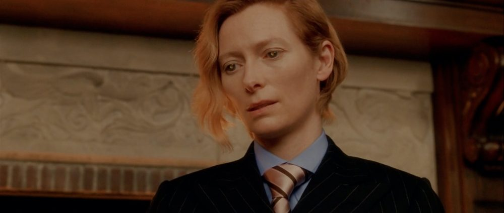 "Tilda Swinton in ""Constantine."" (Courtesy The Brattle Theatre)"