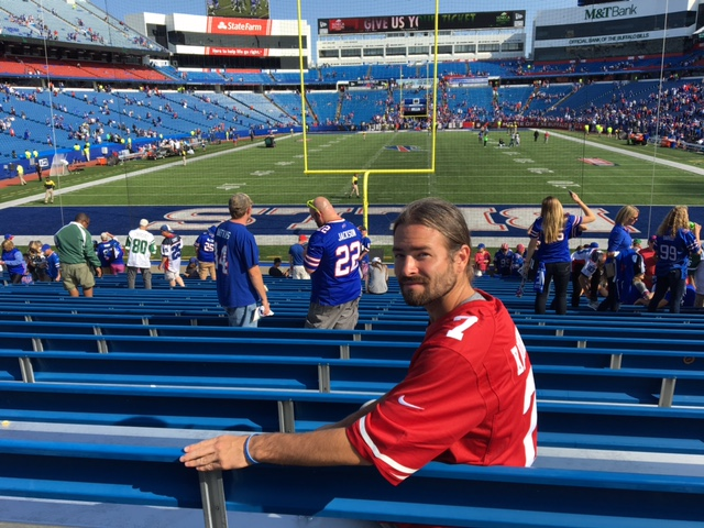 18d216a1a Mission Improbable  Surviving A Bills Game ... In A Kaepernick ...