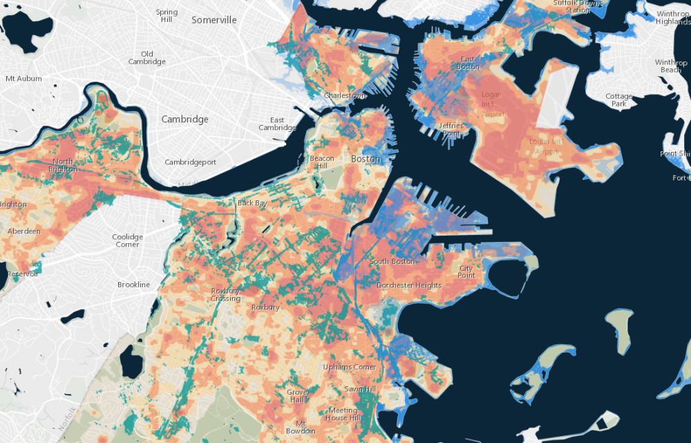 Greater Boston Map Towns.You Can Explore Boston Sea Level Rise And Flooding Scenarios With