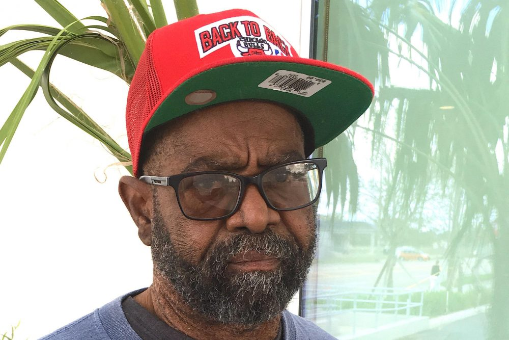 Alvin Joseph of St. Thomas made it through the path of a hurricane and two evacuations without missing a dialysis treatment. (Sammy Mack/WLRN)