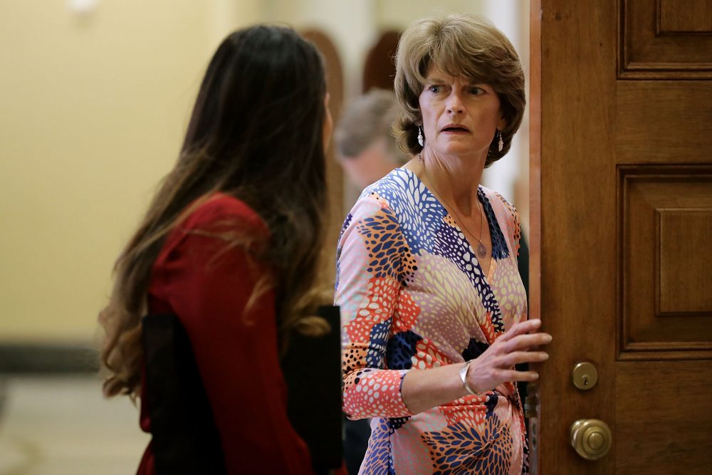 Sen. Lisa Murkowski (R-AK) heads into the Senate Republican policy luncheon at the U.S. Capitol on Aug. 1, 2017 in Washington, D.C. (Chip Somodevilla/Getty Images)