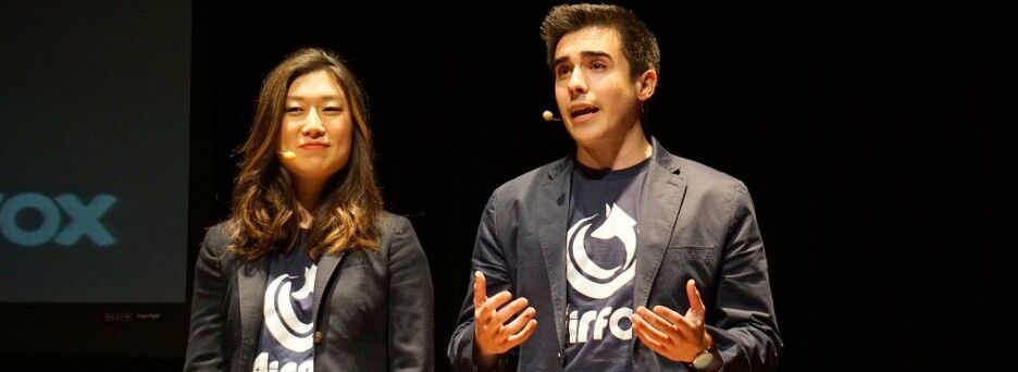 AirFox co-founders Sara Choi and Victor Santos. (Courtesy AirFox)
