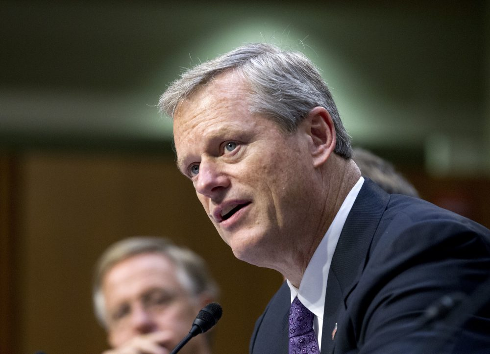 """The most important thing we need to do here is get everybody to understand and accept that they have a role to play in this,"" Governor Baker said Tuesday. (Jose Luis Magana/AP)"