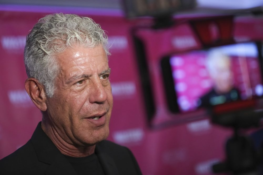 "Executive producer and narrator chef Anthony Bourdain attends the premiere of ""Wasted! The Story of Food Waste"" on Thursday, Oct. 5, 2017, in New York. (Brent N. Clarke/Invision/AP)"