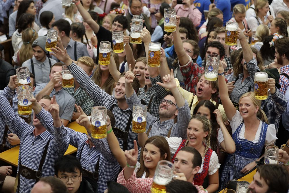 Oktoberfest in Munich, Germany is the world's largest beer festival, but some celebrate the season a bit differently. (Matthias Schrader/AP)