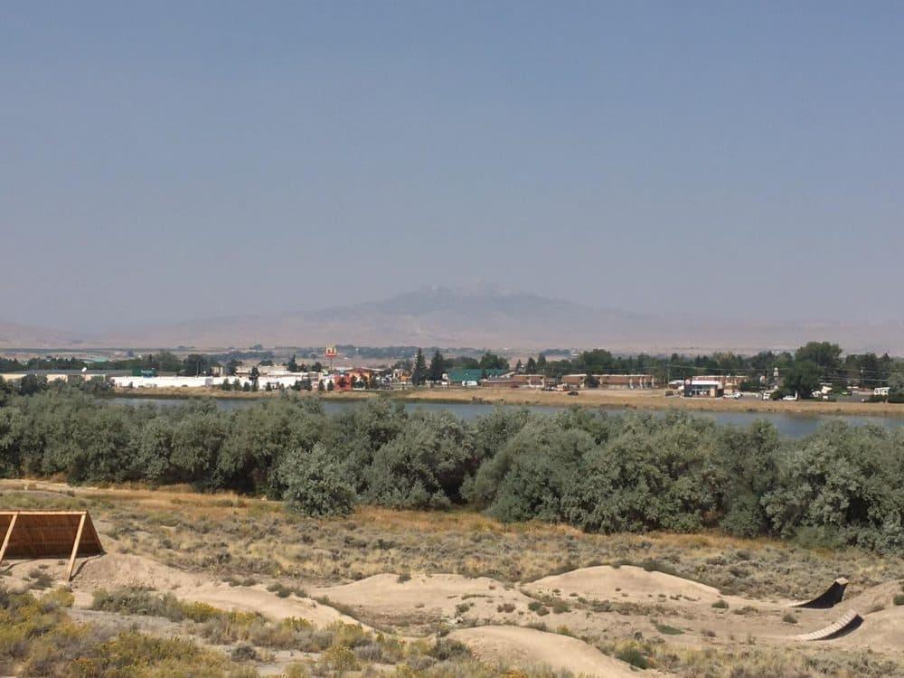 View of Cody and Heart Mountain. (Cooper McKim/Wyoming Public Radio)