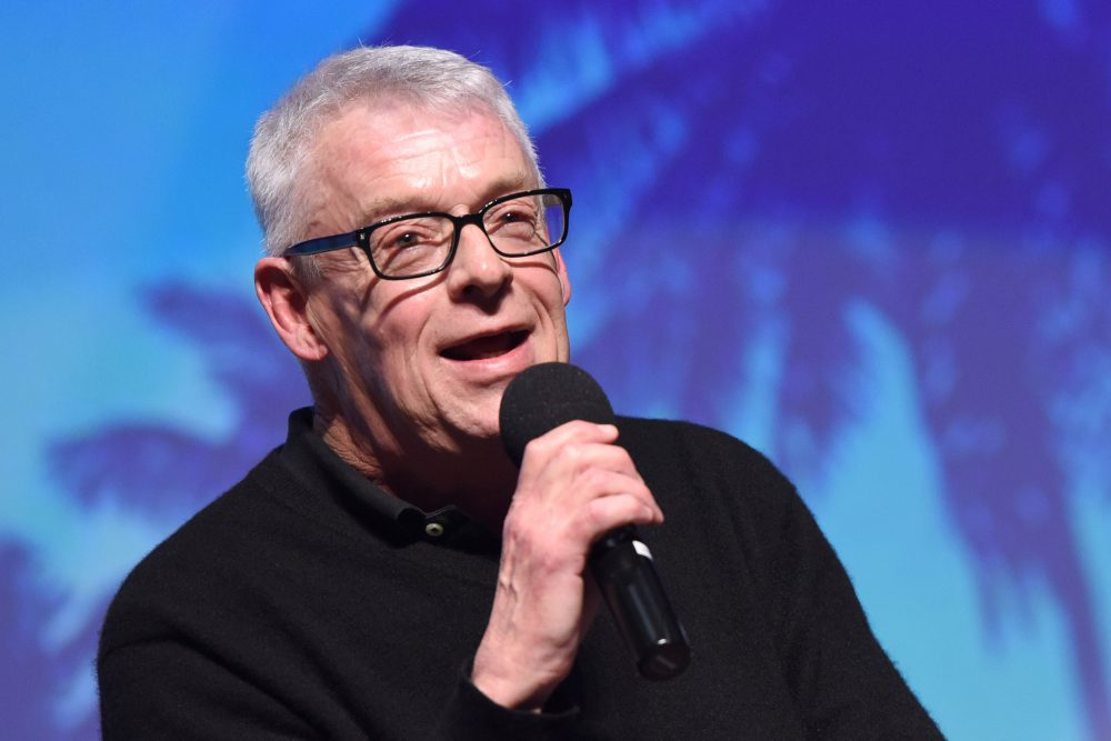 """Activist Cleve Jones speaks during a panel after the North American premiere of """"When We Rise"""" at the 28th Annual Palm Springs International Film Festival on Jan. 12, 2017, in Palm Springs, Calif. (Vivien Killilea/Getty Images for Palm Springs International Film Festival)"""