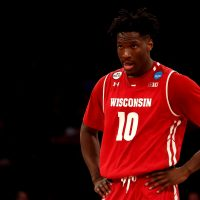 Former Wisconsin basketball player Nigel Hayes became well known for speaking out against the NCAA, But unknown to most fans, Hayes hatched a more ambitious plot to disrupt the NCAA. (Maddie Meyer/Getty Images)