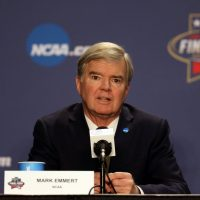 "Emmert's new commission will focus on the relationship between ""student-athletes,"" colleges and the NCAA. (Streeter Lecka/Getty Images)"