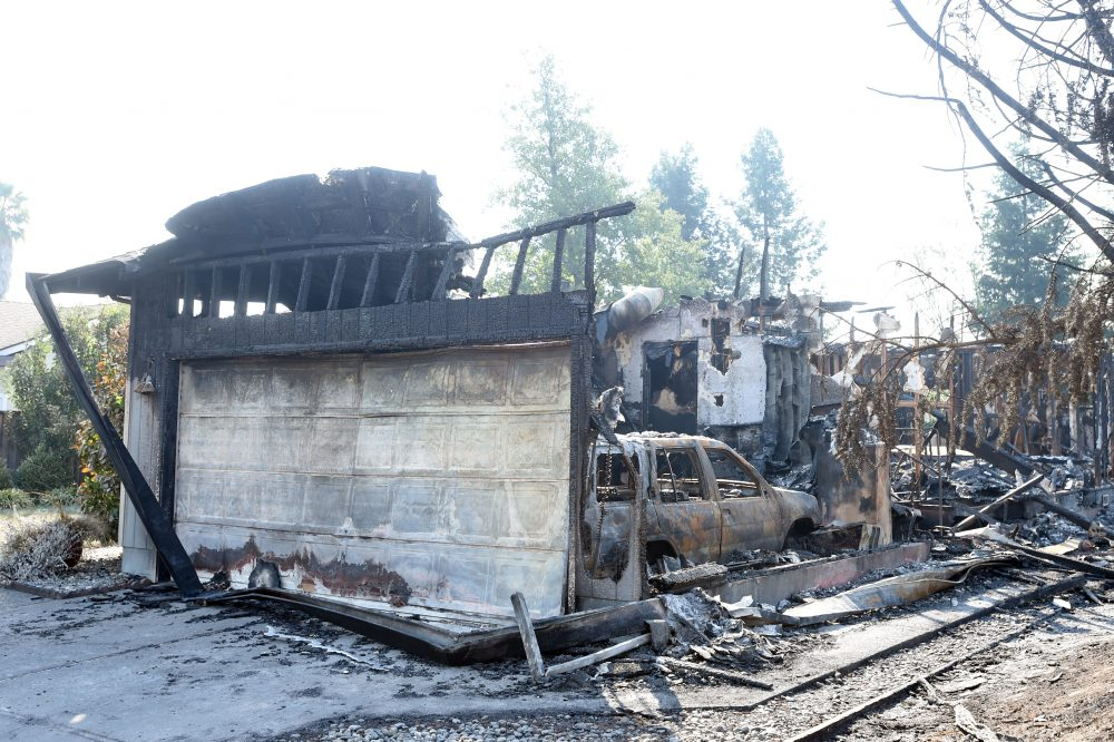 A burned house is seen in Santa Rosa, Calif., on Oct. 12, 2017. (Josh Edelson/AFP/Getty Images)