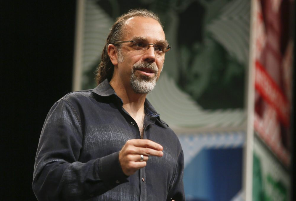 Google X's Captain of Moonshots Astro Teller gives a keynote during the SXSW Interactive Festival on Tuesday, March 17, 2015 in Austin, Texas. (Jack Plunkett/AP)