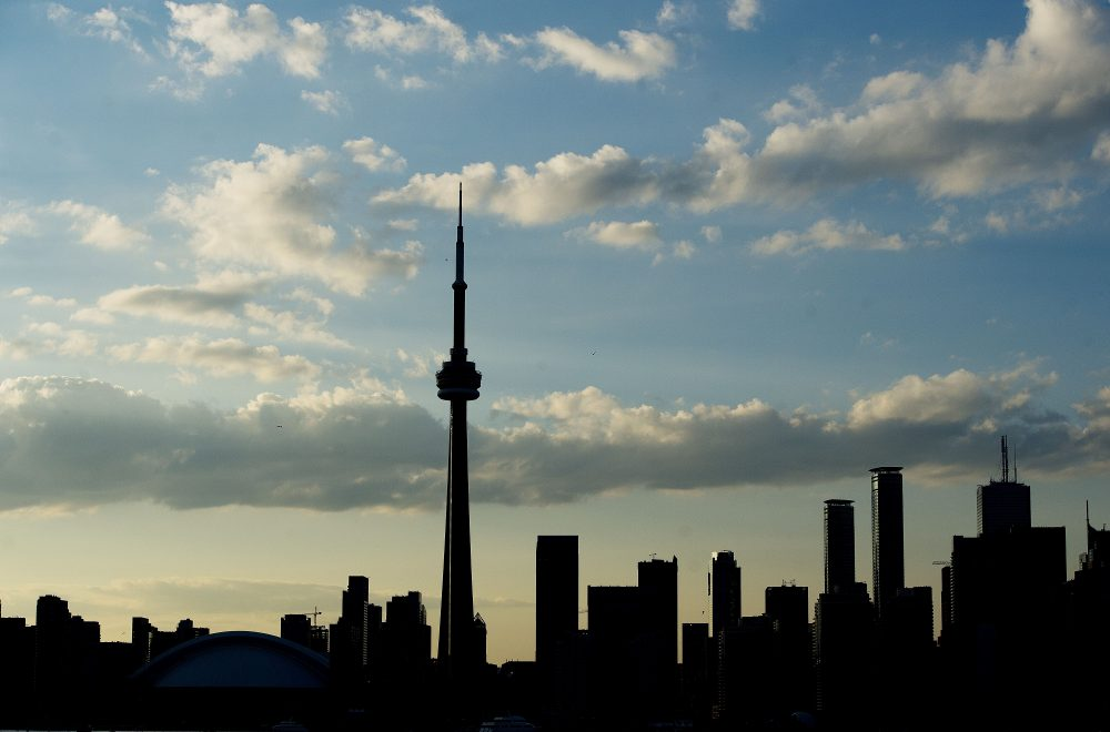 A silhouetted view of the skyline in Toronto, Ontario, in 2015. (Jim Watson/AFP/Getty Images)