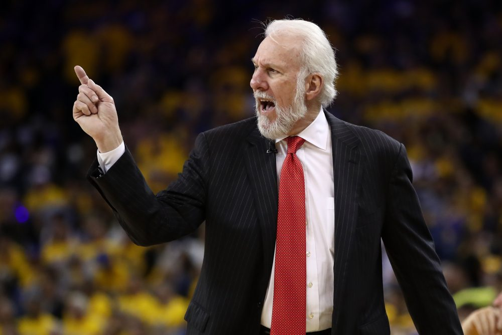 Spurs head coach Gregg Popovich has spoken out against President Trump once again. (Ezra Shaw/Getty Images)