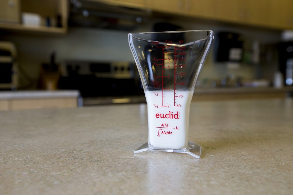 The Euclid measuring cup. (Jesse Costa/WBUR)