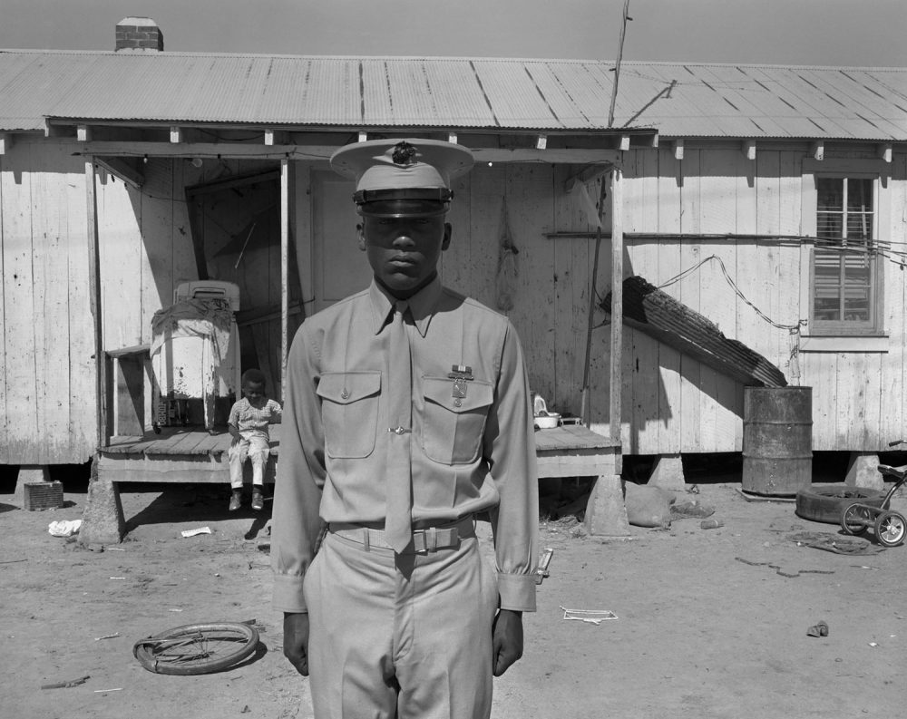 "Eugene Richards, ""U.S. Marine,"" Hughes, Arkansas, 1970. Gelatin silver print. (Courtesy Eugene Richards)"