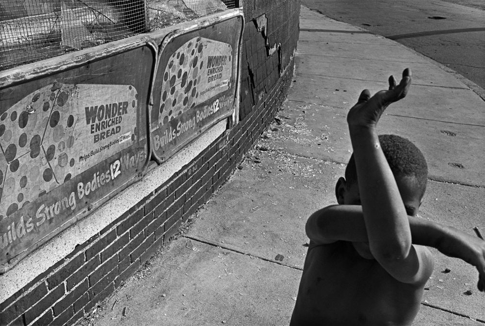 "Eugene Richards, ""Wonder Bread,"" Dorchester, Massachusetts, 1975. Gelatin silver print. (Courtesy Eugene Richards)"