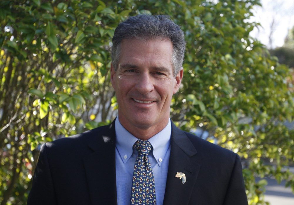 Scott Brown, the U.S. ambassador in New Zealand, poses for a photograph at the U.S. Embassy in July in Wellington, New Zealand. (Nick Perry/AP)