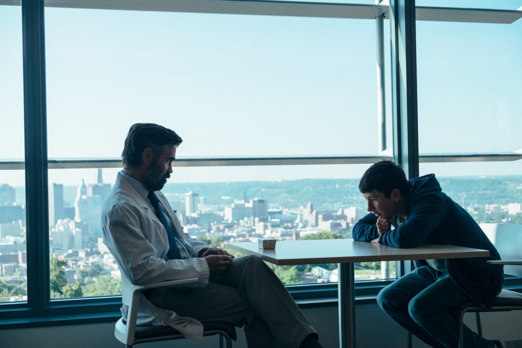 """Colin Farrell and Barry Keoghan in """"The Killing of a Sacred Deer."""" (Courtesy Atsushi Nishijima/A24)"""