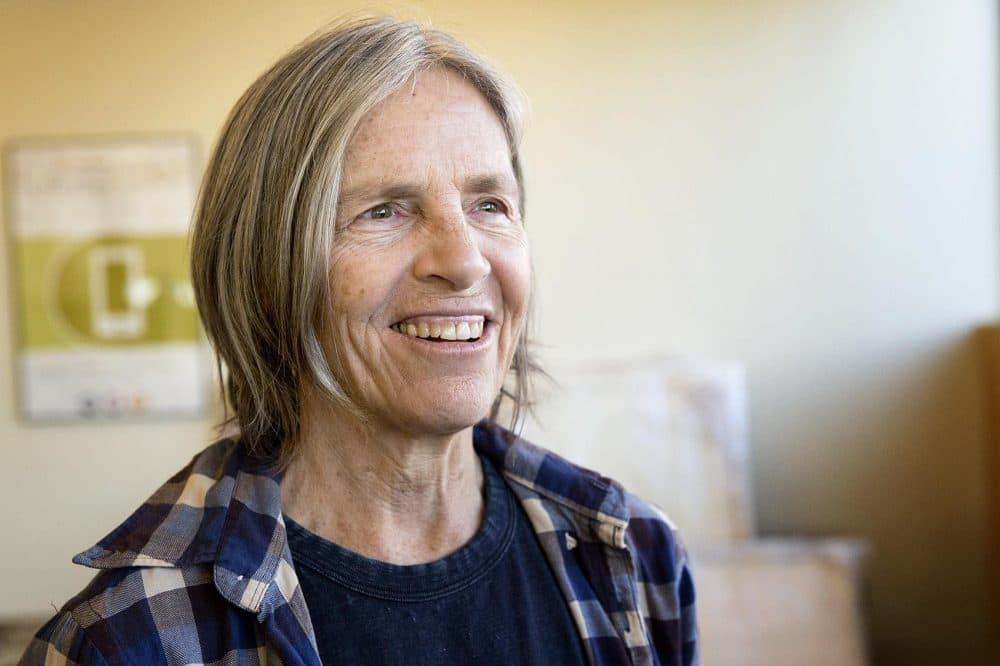 Arlington-born poet and writer Eileen Myles (Robin Lubbock/WBUR)