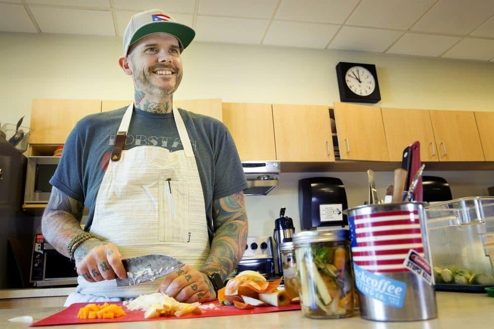 Chef Matt Jennings at WBUR (Robin Lubbock/WBUR)